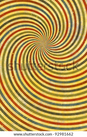 Vintage colorful background of swirling stripes - stock photo