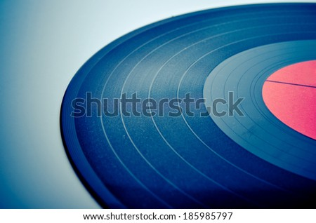 vintage concept of a vinyl plate - stock photo