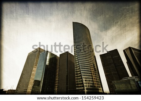 Vintage corporate Paris in France. - stock photo