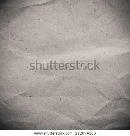 Vintage crumpled paper texture - stock photo