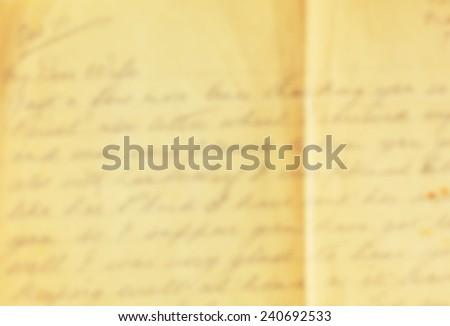 Vintage de focused letter - stock photo