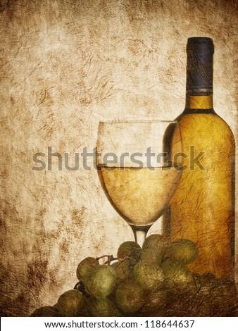 Vintage design for wine list - stock photo