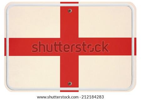Vintage England metal sign - stock photo