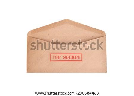 vintage envelope ( TOP SECRET ) - stock photo