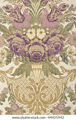 Vintage fabric with patterns - stock photo