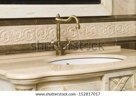 vintage faucet - stock photo