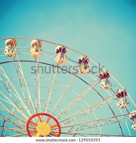 Vintage Ferris Wheel - stock photo