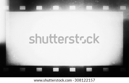 vintage film strip - stock photo