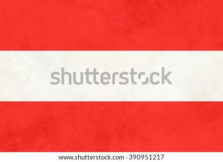 Vintage Flag of Austria - stock photo