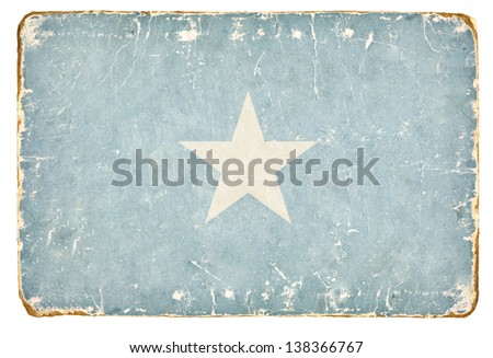 Vintage flag of Somalia. - stock photo