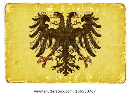 Vintage Flag of the Holy Roman Empire. - stock photo