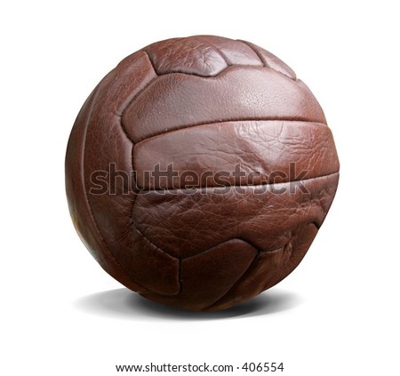 Vintage football. This image contains a clipping path. - stock photo