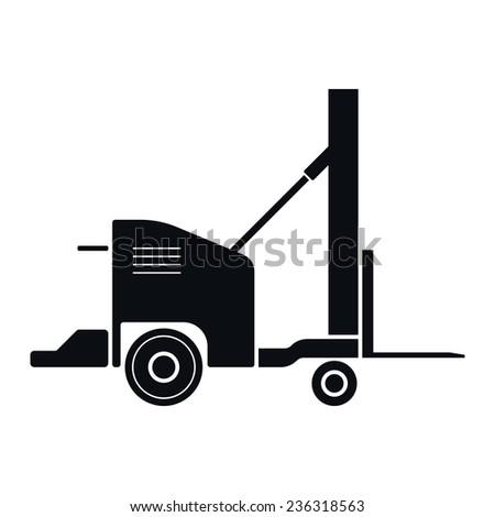 Vintage Forklift Icon Illustration - stock photo