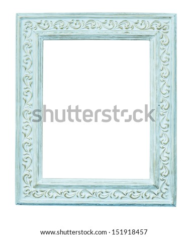 vintage frame isolated on white background - stock photo