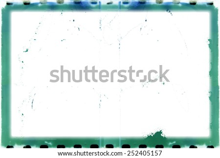 Vintage frame 35mm color film background - stock photo
