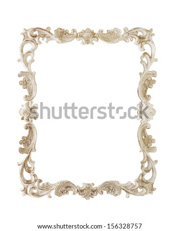 vintage frame styled isolate on white - stock photo