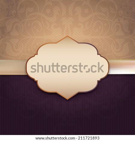 Vintage Frame with  damask lace pattern. Background - stock photo