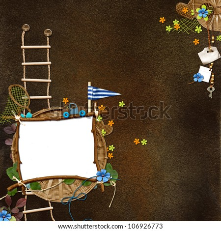 Vintage framework for invitation or congratulation - quickpage - stock photo