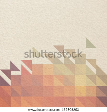 Vintage geometric pattern, mosaic. Paper textured background. - stock photo
