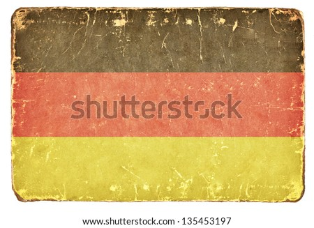 Vintage German flag. - stock photo