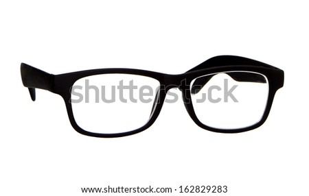 Vintage glasses on a white background - stock photo