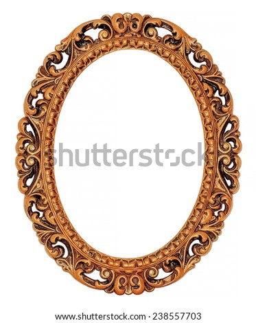 Vintage gold frame  - stock photo