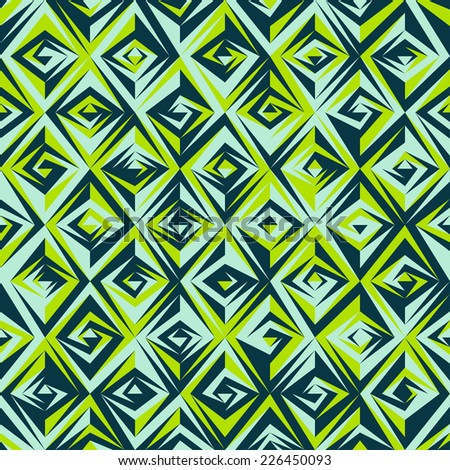 vintage green mosaic seamless pattern (raster version) - stock photo