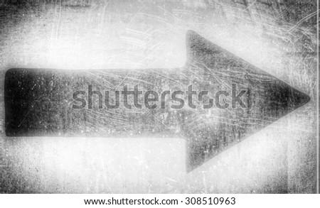 vintage grey arrow  - stock photo