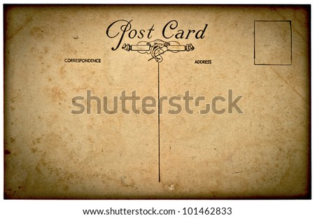 vintage grunge old post card background - stock photo