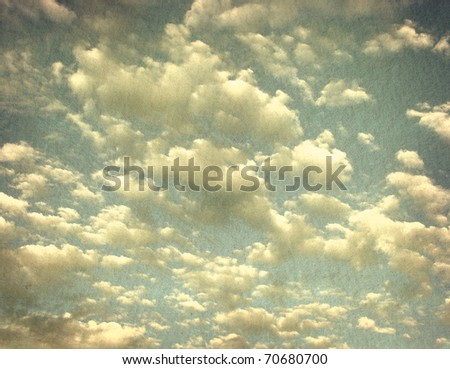 vintage grunge photo of cloudy sky - stock photo