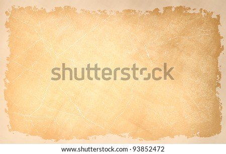 vintage grunge texture of cracked wall with frame - stock photo