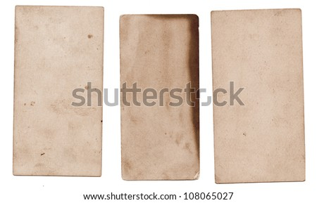 Vintage grungy cards - stock photo