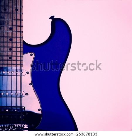 Vintage Guitar - stock photo