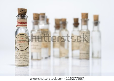 Vintage Homeopathic Medicine - stock photo