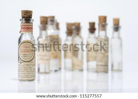 Vintage Homeopathic Medicine - stock photo