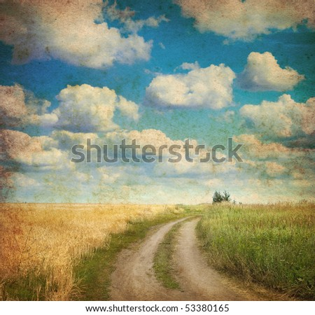 vintage image of  landscape - stock photo