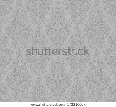 Vintage intricate seamlessly tilable repeating  arabic background pattern - stock photo