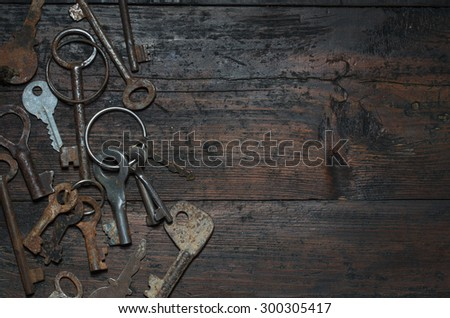 vintage key - stock photo