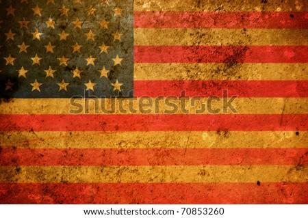 Vintage look United States Flag - stock photo