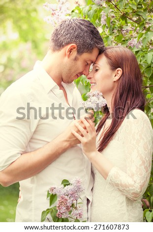 vintage love couple - stock photo
