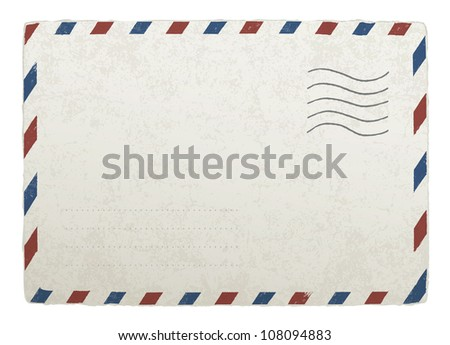 Vintage mailing envelope. Raster version - stock photo