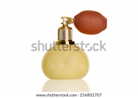 vintage marble perfume atomizer bottle - stock photo