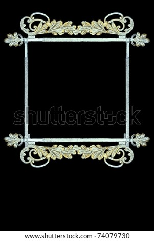 vintage metalwork as frame, sign - stock photo