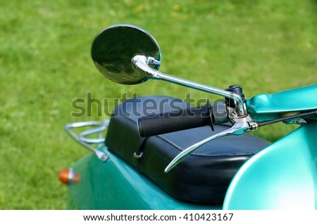 vintage moped - stock photo
