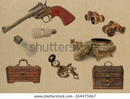 vintage objects - stock photo