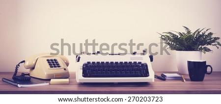 Vintage office - stock photo
