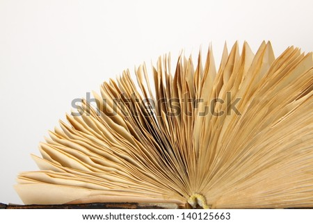 Vintage old book on white background - stock photo