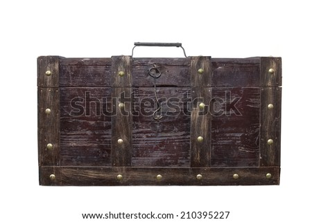 Vintage old chest - stock photo