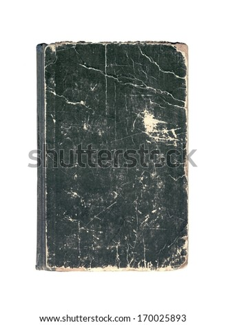 Vintage old cover of book on a white background - stock photo