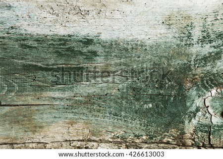 Vintage old cracked wood planks for table tops, backgrounds or floors - stock photo